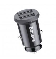 Baseus Grain, Autolaadija 2 USB-porti 3.1A - Must