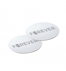 Forever, Metallplaadid magnet autohoidikute jaoks, 2 plaati - Hõbe