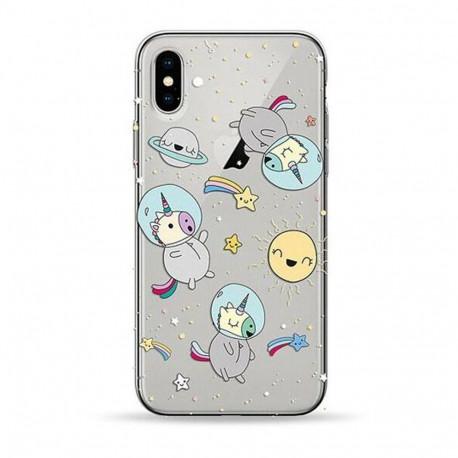 Pump Transperency, Ümbris Apple iPhone X, iPhone XS, 2017/2018 - Spase Unicorn
