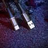 Baseus Halo, Kaabel, juhe USB Male - MicroUSB Male, 0,25m - Must