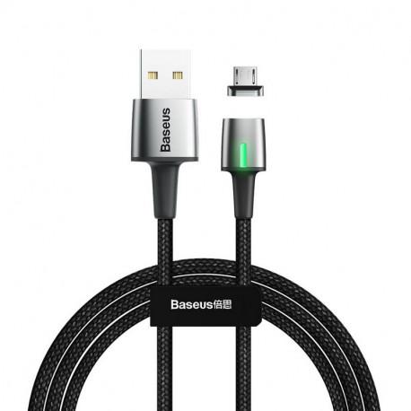 Baseus Zinc Magnetic, Kaabel, juhe USB Male - MicroUSB, 2m - Must