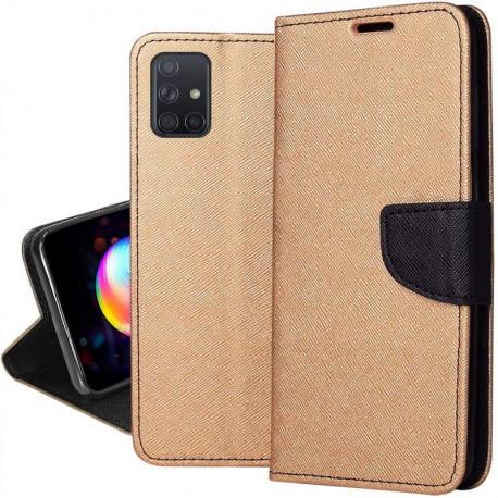 Fancy, Kaaned Samsung Galaxy A71, A715, 2019 - Kuld-Must