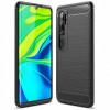 Carbon, Ümbris Xiaomi Mi Note 10, Mi Note 10 Pro, Mi CC9 Pro - Must
