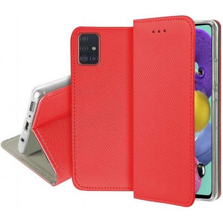 Magnet, Kaaned Samsung Galaxy A71, A715, 2019 - Punane