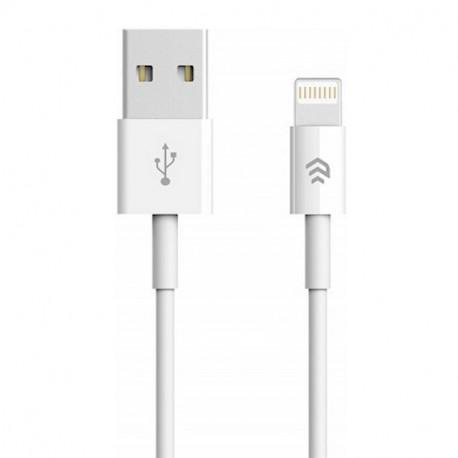 Devia Smart, Kaabel, juhe USB Male - Lightning, 1m, iPhone, iPad - Valge