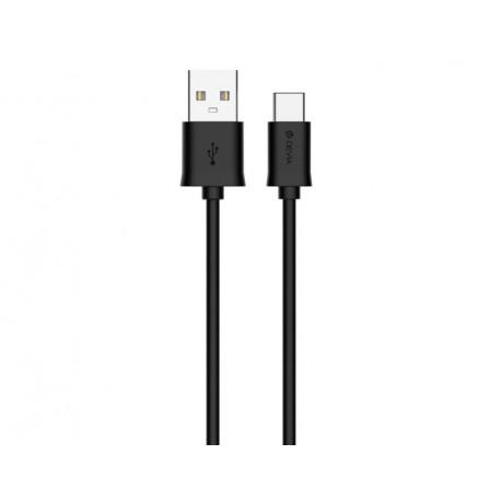 Devia Smart, Kaabel, juhe USB Male - Type-C, 1m - Must