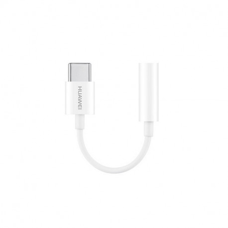 Huawei CM20, Üleminek, adapter USB Type-C to AUX jack 3,5mm - Valge