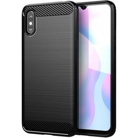 Carbon, Ümbris Xiaomi Redmi 9A, Redmi 9I, Redmi 9AT, 2020 - Must