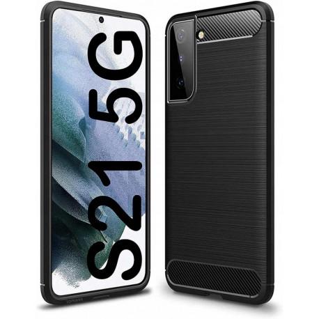 Carbon, Ümbris Samsung Galaxy S21, S21 5G, 6.2, G990F, G991B, 2021 - Must