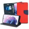 Fancy, Kaaned Samsung Galaxy S21, S21 5G, 6.2, G990F, G991B, 2021 - Punane