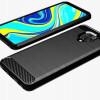 Carbon, Ümbris Xiaomi Redmi Note 9 Pro, Note 9 Pro Max, Note 9S, 2020 - Must