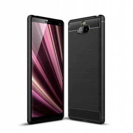 Carbon, Ümbris Sony Xperia 10, Xperia XA3, 2019 - Must