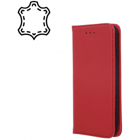 Leather, Nahkkaaned Samsung Galaxy A12, A125F, 2020 - Punane