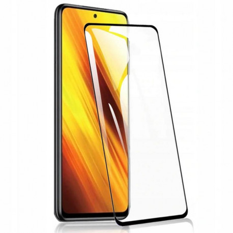 Kaitseklaas 5D, Xiaomi Poco X3, Poco X3 NFC, 2020 - Must