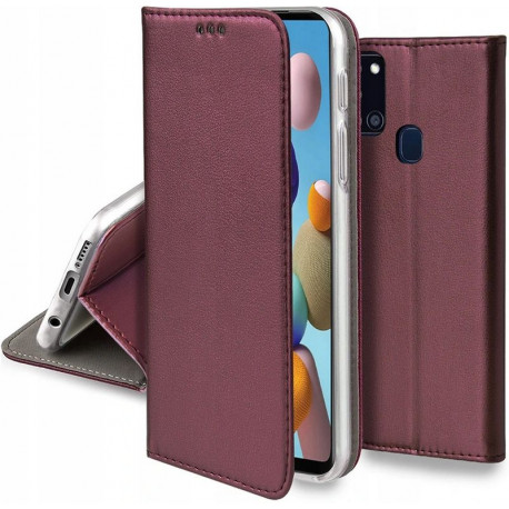 Magnetic, Kaaned Samsung Galaxy A21s, A217, 2020 - Burgundy
