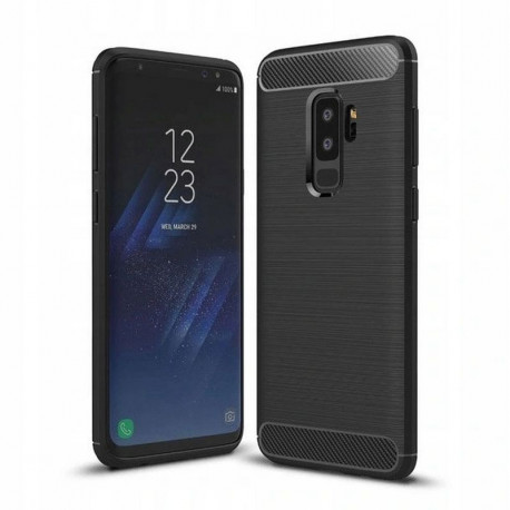 Carbon, Ümbris Samsung Galaxy S9+, S9 Plus, G965, 2018 - Must