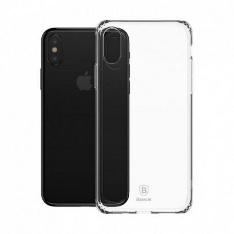 Baseus Simple Series Anti-Fall, Ümbris Apple iPhone X, iPhone XS, 2017/2018 - Läbipaistev