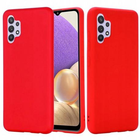 Silicon, Ümbris Samsung Galaxy A32 4G, A325F, 2021 - Punane