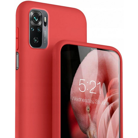 Silicon, Ümbris Xiaomi Redmi Note 10, Note 10S, 2021 - Punane