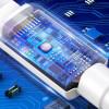 Baseus Mini, Kaabel, juhe USB Male - USB Type-C Male, 3A, 1m - Valge