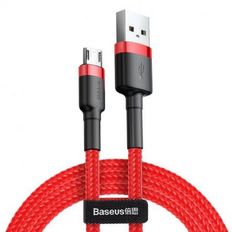 Baseus Cafule, Kaabel, juhe USB Male - MicroUSB Male, 1.5A, 2.0m - Punane-Must