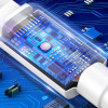 Baseus Mini, Kaabel, juhe USB Male - MicroUSB Male, 2.4A, 1m - Valge