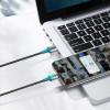 Baseus Zinc Magnetic, Kaabel, juhe USB Male - Lightning, 1.5A, 2.0m, iPhone, iPad - Must