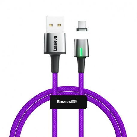 Baseus Zinc Magnetic, Kaabel, juhe USB Male - USB Type-C Male, 2A, 2.0m - Lilla