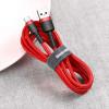 Baseus Cafule, Kaabel, juhe USB Male - USB Type-C Male, 3A, 0,5m - Punane