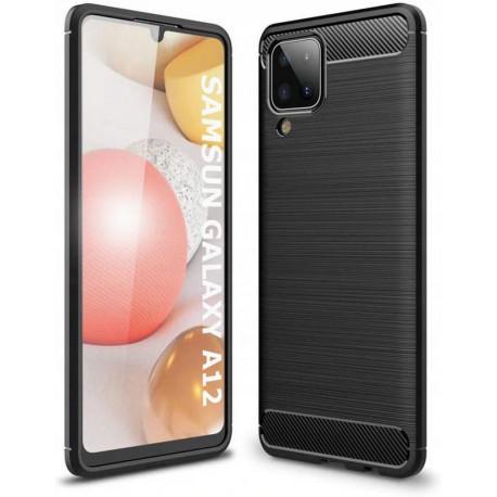 Carbon, Ümbris Samsung Galaxy A12, A125F, 2020 - Must