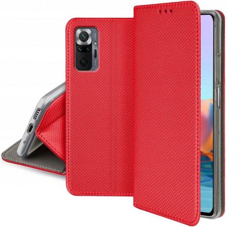 Magnet, Kaaned Xiaomi Redmi Note 10 Pro, 10 Pro Max, 2021 - Punane