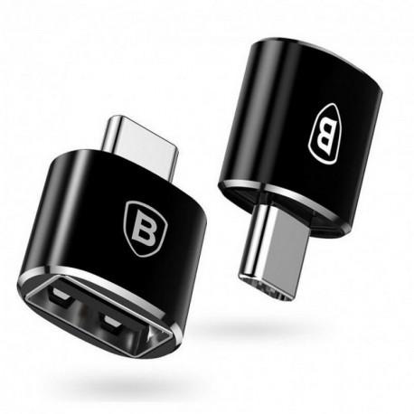 Baseus, Üleminek, adapter USB-A Female - Type-C Male - Must