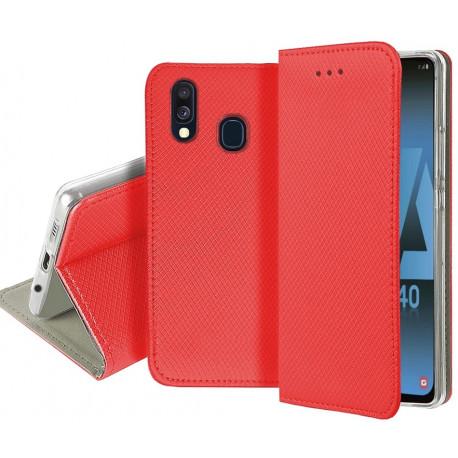 Magnet, Kaaned Samsung Galaxy A40, A405, 2019 - Punane